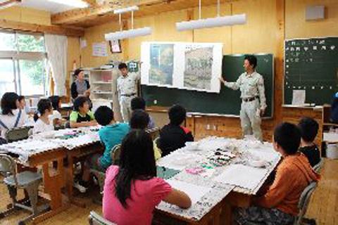 静岡治山セミナー 水窪小学校