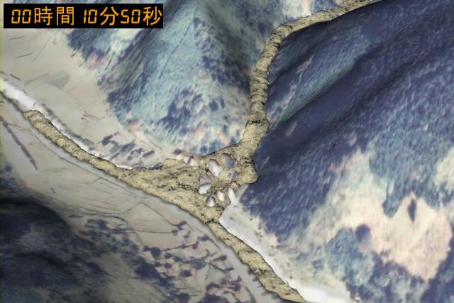 土石流シミュレーション